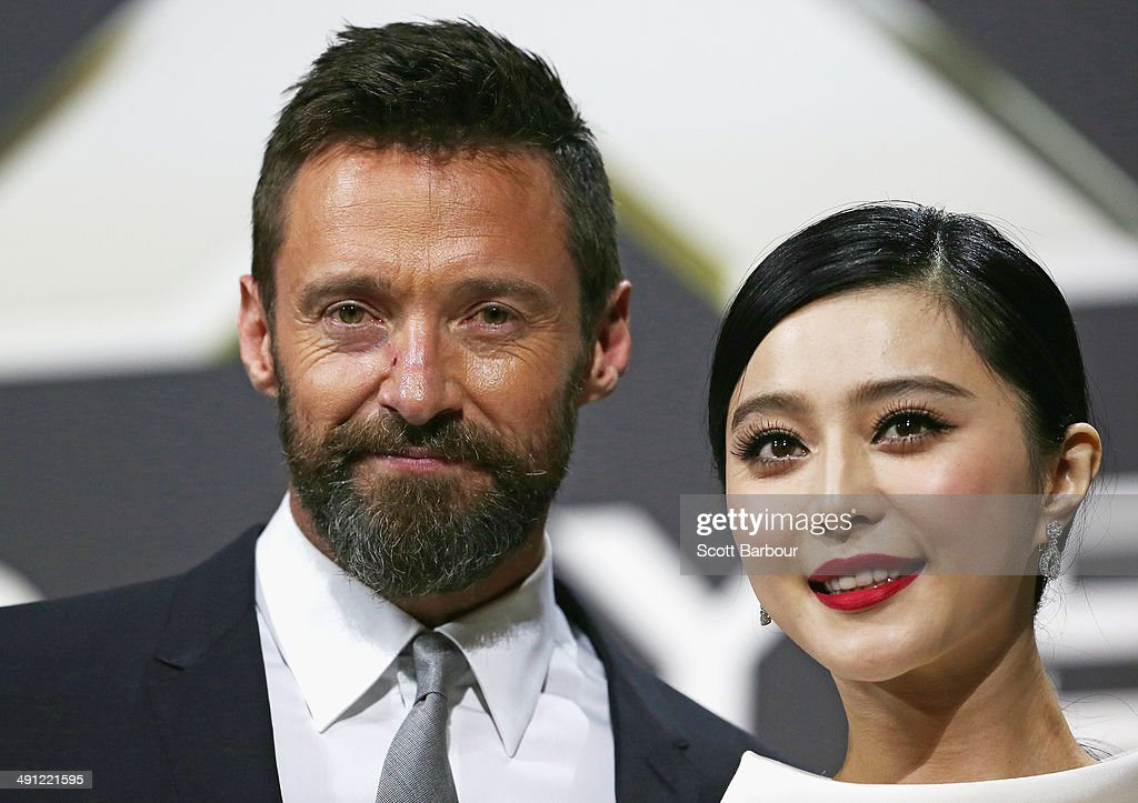 Fan Bingbing and Hugh Jackman arrive at the Australian premiere of 'X-Men: Days of Future Past' on May 16, 2014 in Melbourne, Australia.