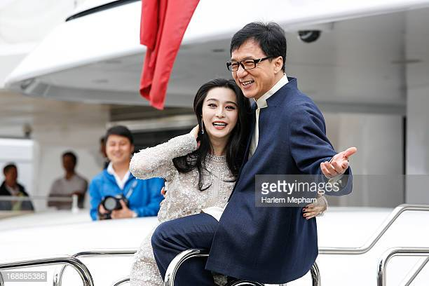 Fan Bingbing and Jackie Chan at the 66th Annual Cannes Film Festival on May 16 2013 in Cannes France