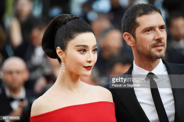 Fan Bingbing and Melvil Poupaud attend the The Beguiled screening during the 70th annual Cannes Film Festival at Palais des Festivals on May 24 2017...
