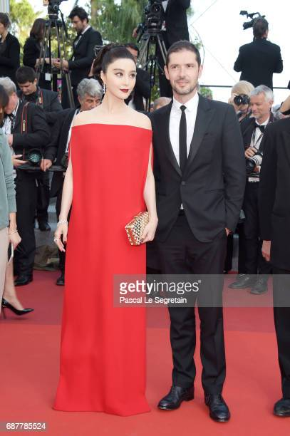 Fan Bingbing and Melvil Poupaud attend the 'The Beguiled' screening during the 70th annual Cannes Film Festival at Palais des Festivals on May 24...