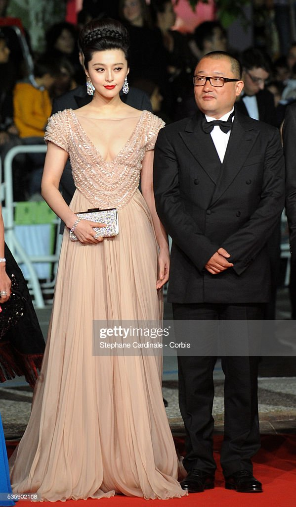 Fan BingBing and Wang Xiaoshuai at the premiere of ?Chongqing Blues? during the 63rd Cannes International Film Festival.