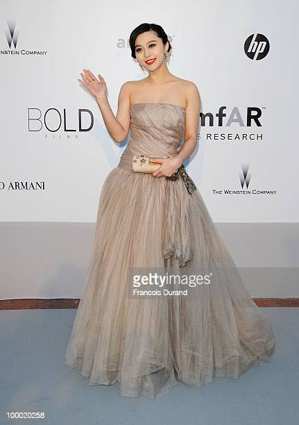 Fan Bingbing arrives at amfAR's Cinema Against AIDS 2010 benefit gala at the Hotel du Cap on May 20 2010 in Antibes France