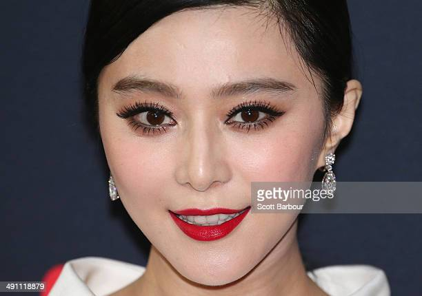 Fan Bingbing arrives at the Australian premiere of 'XMen Days of Future Past on May 16 2014 in Melbourne Australia