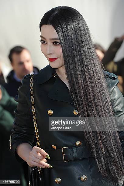 Fan Bingbing arrives at the Louis Vuitton show as part of the Paris Fashion Week Womenswear Fall/Winter 20142015 on March 5 2014 in Paris France