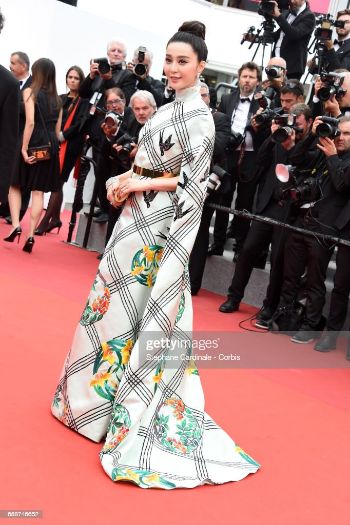 Fan Bingbing attends the 'Amant Double (L'Amant Double)' premiere during the 70th annual Cannes Film Festival at Palais des Festivals on May 26, 2017 in Cannes, France.