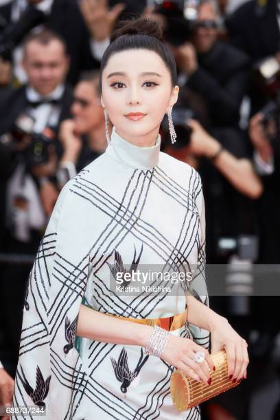Fan Bingbing attends the 'Amant Double ' screening during the 70th annual Cannes Film Festival at Palais des Festivals on May 26 2017 in Cannes France