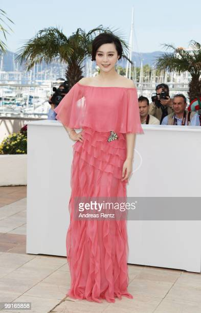 Fan BingBing attends the 'Chongqing Blues' Photocall at the Palais des Festivals during the 63rd Annual Cannes Film Festival on May 13 2010 in Cannes...