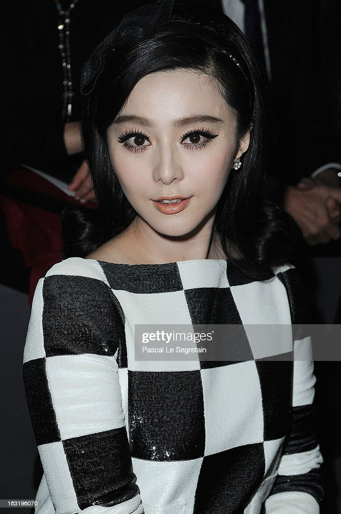 Fan Bingbing attends the Louis Vuitton Fall/Winter 2013 Ready-to-Wear show as part of Paris Fashion Week on March 6, 2013 in Paris, France.