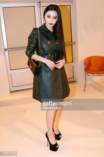 Fan Bingbing attends the Louis Vuitton show as part of the Paris Fashion Week Womenswear Fall/Winter 20142015 on March 5 2014 in Paris France