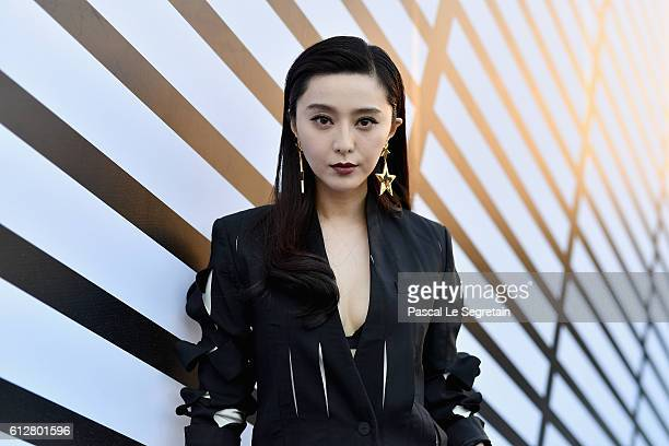 Fan Bingbing attends the Louis Vuitton show as part of the Paris Fashion Week Womenswear Spring/Summer 2017 on October 5 2016 in Paris France
