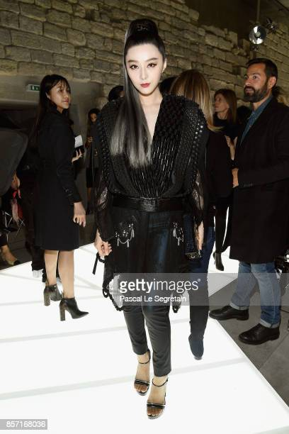 Fan Bingbing attends the Louis Vuitton show as part of the Paris Fashion Week Womenswear Spring/Summer 2018 on October 3 2017 in Paris France