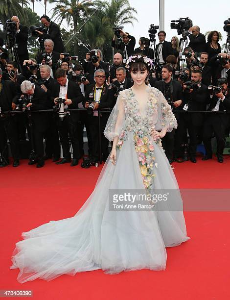 Fan Bingbing attends the 'Mad Max Fury Road' premiere during the 68th annual Cannes Film Festival on May 14 2015 in Cannes France