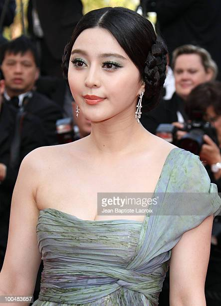 Fan Bingbing attends the Palme d'Or Closing Ceremony held at the Palais des Festivals during the 63rd Annual International Cannes Film Festival on...