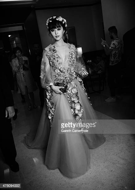 Fan Bingbing departs the Martinez Hotel during the 68th annual Cannes Film Festival on May 14 2015 in Cannes France