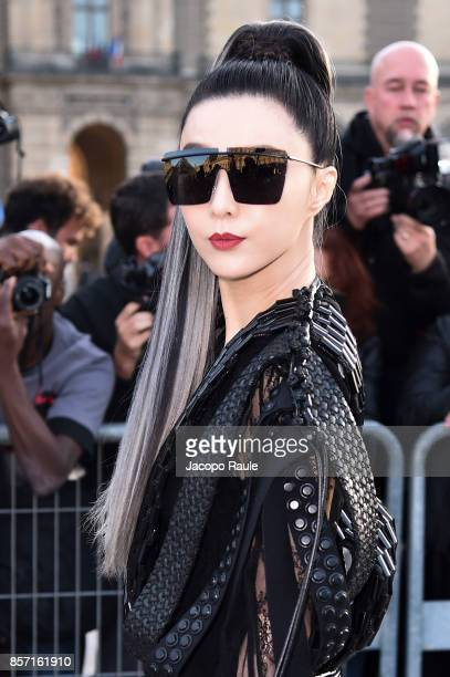 Fan Bingbing is seen arriving at Louis Vuitton show during Paris Fashion Week Womenswear Spring/Summer 2018 on October 3 2017 in Paris France