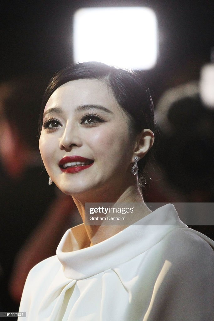 Fan Bingbing poses as she arrives at the Australian premiere of 'X-Men: Days of Future Past' on May 16, 2014 in Melbourne, Australia.
