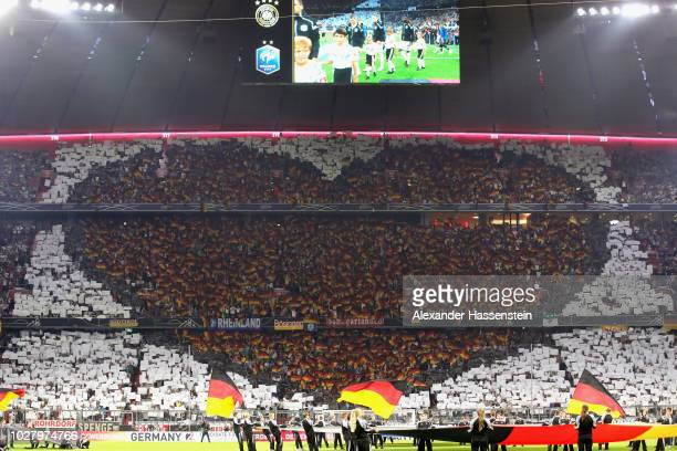 Fan Choreography of Germany for the UEFA Nations League group A match between Germany and France at Allianz Arena on September 6 2018 in Munich...