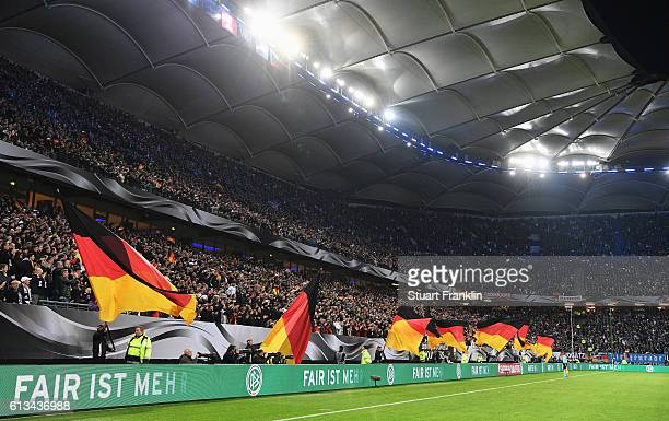 Fan club activity prior to the FIFA 2018 World Cup Qualifying match between Germany and Czech Republic at Volksparkstadion on October 8 2016 in...