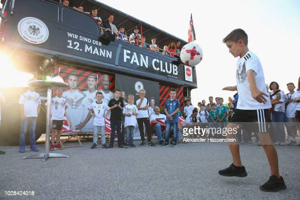 Fan Club National Team Germany activitys with Germany supporters prior to the UEFA Nations League group A match between Germany and France at Allianz...