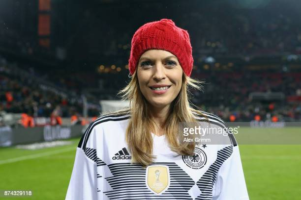 Fan Club National Team powered by Coca Cola DFBTV host Jule Goelsdorf prior to the friendly match between Germany and France at RheinEnergieStadion...