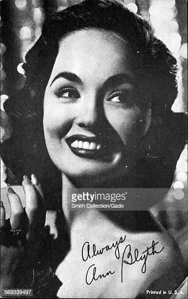 Fan club photo of Ann Blyth 1950
