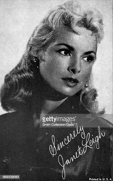 Fan club photo of Janet Leigh 1966
