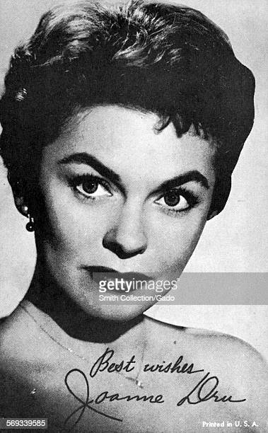 Fan club photo of Joanne Dru 1959