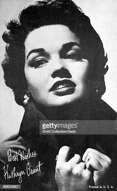 Fan club photo of Kathryn Crosby 1950