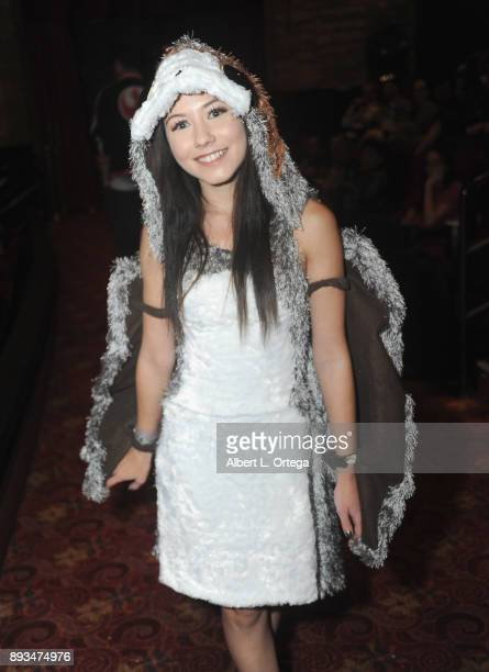 Fan dressed as a Porg at the Opening Night Celebration Of Walt Disney Pictures And Lucasfilm's 'Star Wars The Last Jedi' At TCL Chinese Theatre held...