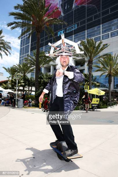 A fan dressed in cosplay attends 2017 ComicCon International on July 23 2017 in San Diego California