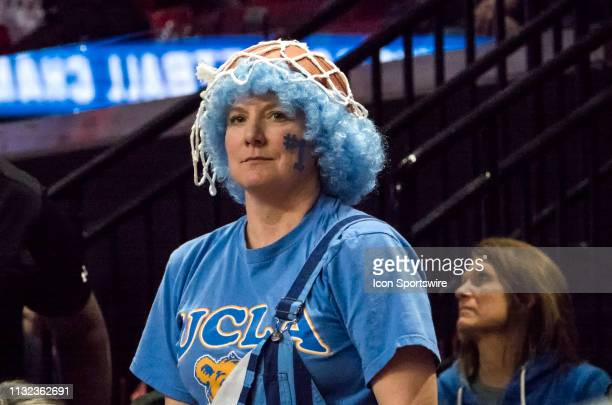 UCLA fan during a NCAA Div 1 Women's championship first round game between the Tennessee Lady Vols and UCLA Bruins on March 23 at Xfinity Center in...
