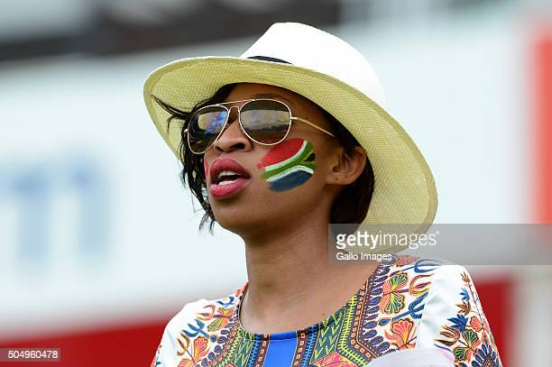 A fan during day 1 of the 3rd Test match between South Africa and England at Bidvest Wanderers Stadium on January 14 2016 in Johannesburg South Africa