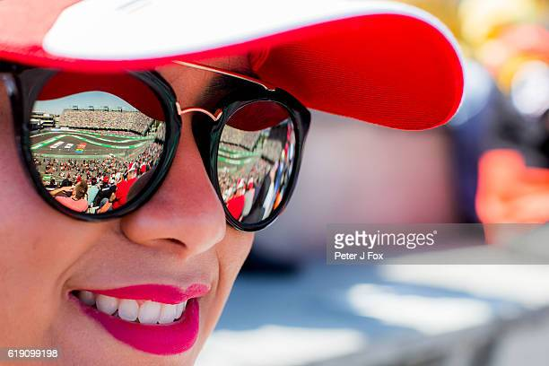Fan during qualifying for the Formula One Grand Prix of Mexico at Autodromo Hermanos Rodriguez on October 29 2016 in Mexico City Mexico