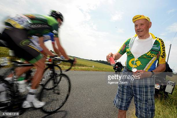 Fan during Stage Two of the Criterium du Dauphine on June 8 2015 in Le Bourget du Lac France