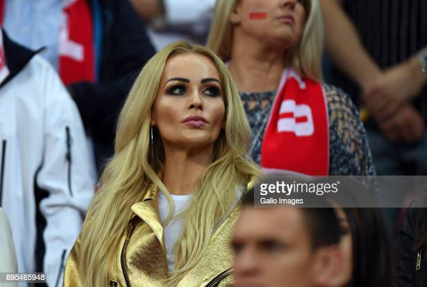Fan during the 2018 FIFA World Cup Russia eliminations match between Poland and Romania on June 10 2017 at the National Stadium in Warsaw Poland