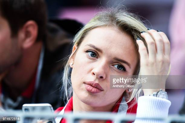 A fan during the 2018 FIFA World Cup Russia group A match between Russia and Saudi Arabia at Luzhniki Stadium on June 14 2018 in Moscow Russia
