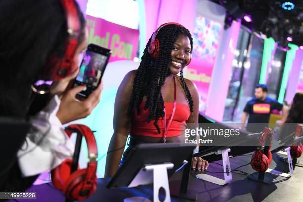"""Fan enjoys activation as """"MTV Presents: Khaled Con,"""" a DJ Khaled-hosted fan event in MTV's Times Square Studio, celebrating the release of """"Father Of..."""