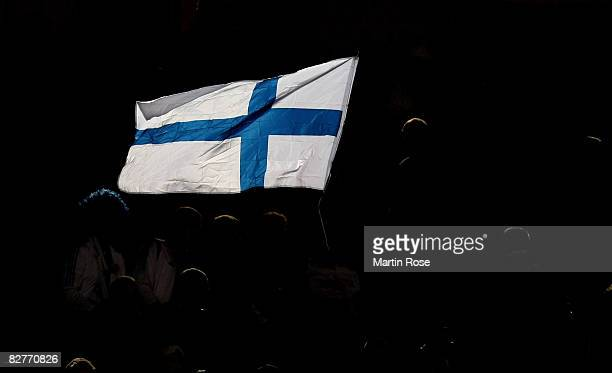 A fan feature of during the FIFA 2010 World Cup Group Four Qualifying match between Finland and Germany at the Olympic stadium on September 10 2008...