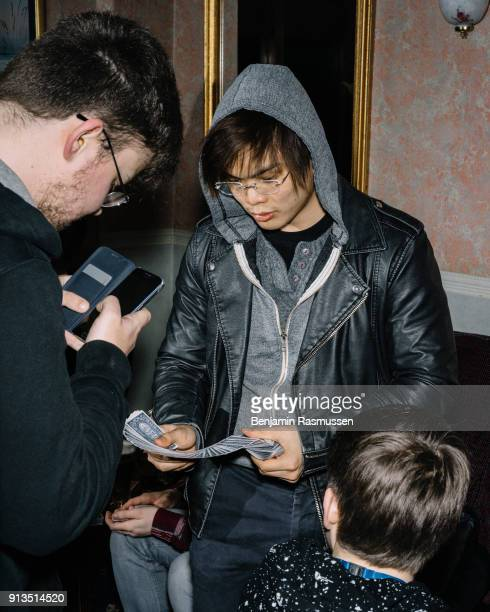 A fan films Shin Lim doing a trick at the Ruskin hotel in Blackpool on February 19 2016 The most talented and innovative magicians in the world are...