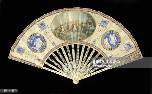 Fan, French, 1800-1809. Artist Unknown.