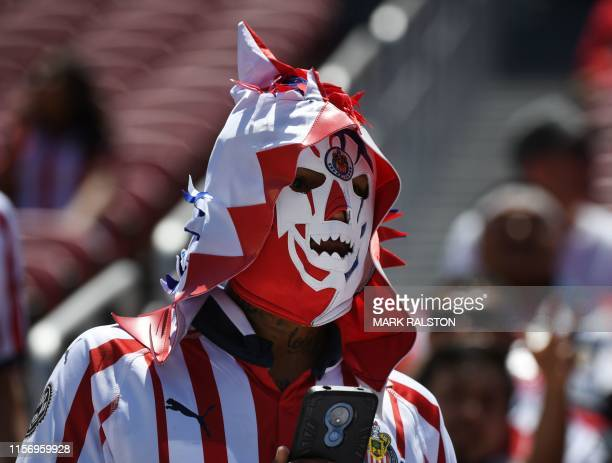 A fan from Chivas de Guadalajara during their 2019 International Champions Cup match against Benfica at the Levi's Stadium in Santa Clara California...