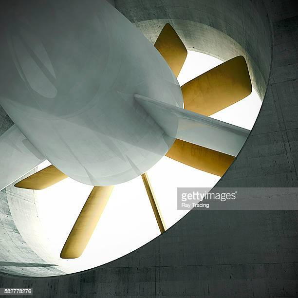 fan from wind tunnel - aerodynamic stock pictures, royalty-free photos & images
