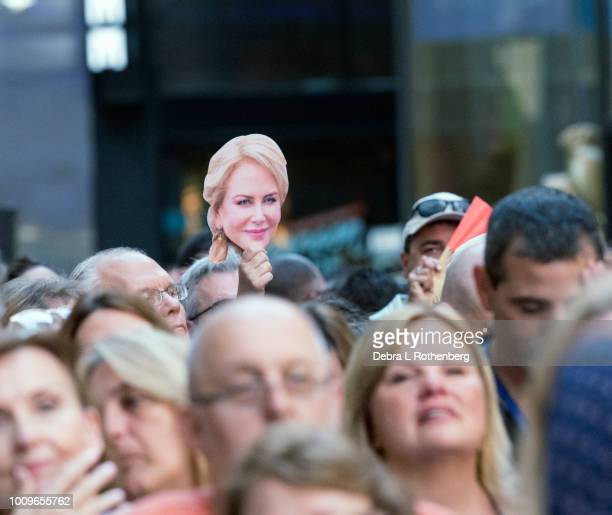 A fan holds a photo of Nicole Kidman while Keith Urban Performs live on NBC's 'TODAY' on August 2 2018 in New York City