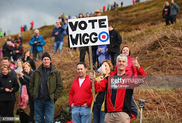 A fan holds a sign supporting Sir Bradley Wiggins of Great Britain and Team Wiggins during Stage 3 of the Tour of Yorkshire from Wakefield to Leeds...