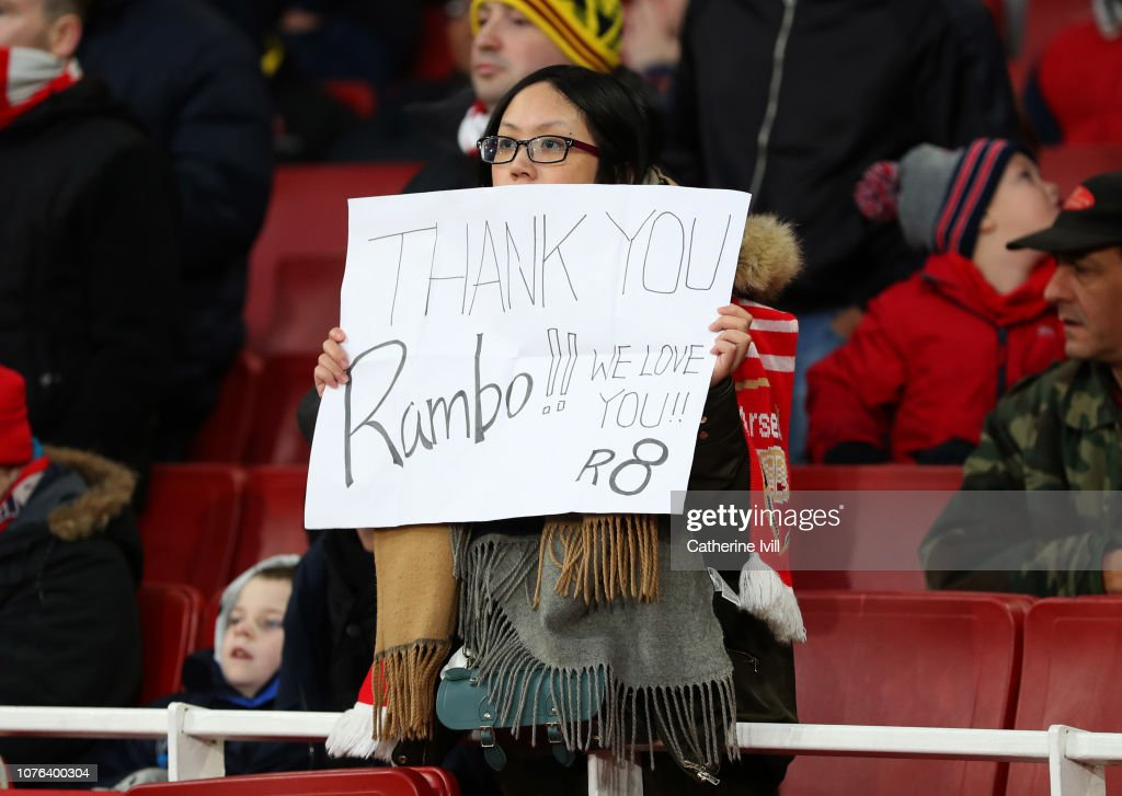 Image result for arsenal fans cheering ramsey
