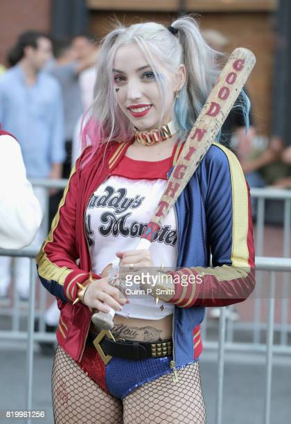 A fan in cosplay at 2017 ComicCon International on July 20 2017 in San Diego California