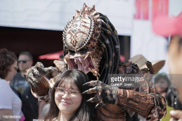 A fan in cosplay attends 2018 ComicCon International on July 19 2018 in San Diego California