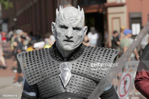 A fan in cosplay attends 2018 ComicCon International on July 20 2018 in San Diego California