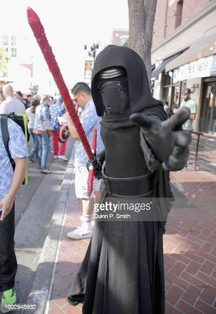 Fan in cosplay attends 2018 Comic-Con International on July 20, 2018 in San Diego, California.