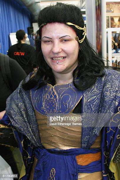A fan is seen in Elvish clothing at The Fellowship Festival 2004 aimed at J R R Tolkien fans at Alexandra Palace on August 28 2004 in London The Lord...